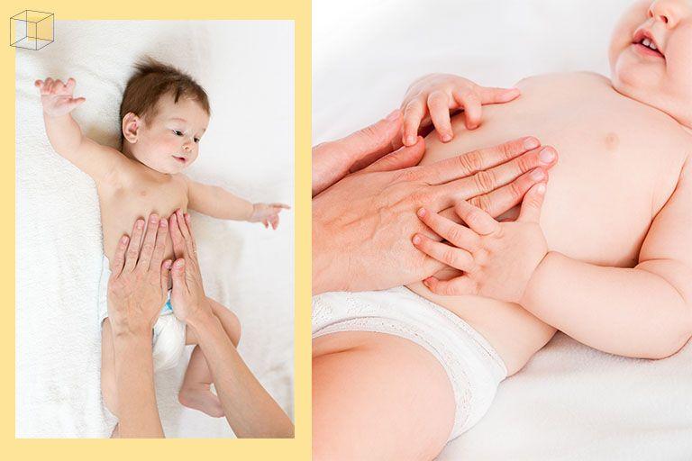 ทารกท้องผูก แก้ด้วยท่านวดรอบสะดือตามเข็มนาฬิกา