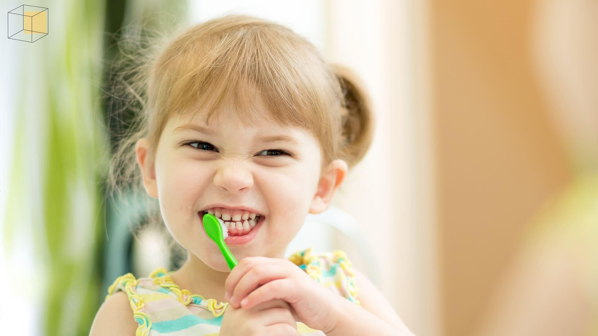 จับลูกแปรงฟัน