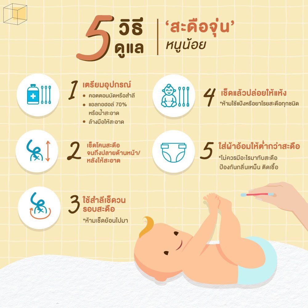 วิธีทำความสะอาดสะดือทารก