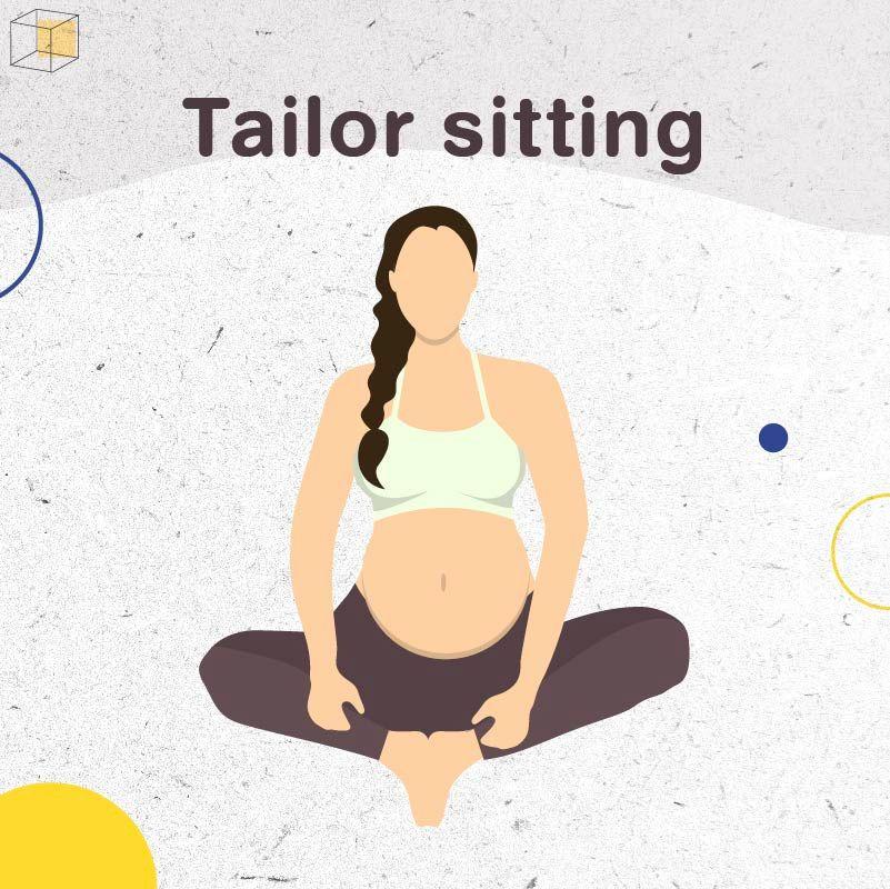"""ท่าออกกำลังกายคนท้อง """"Tailor sitting"""""""