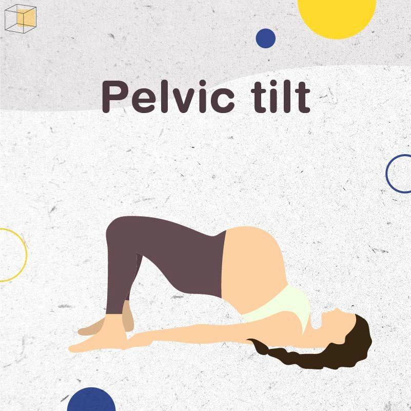 """ท่าออกกำลังกายคนท้อง """"Pelvic tilt"""""""