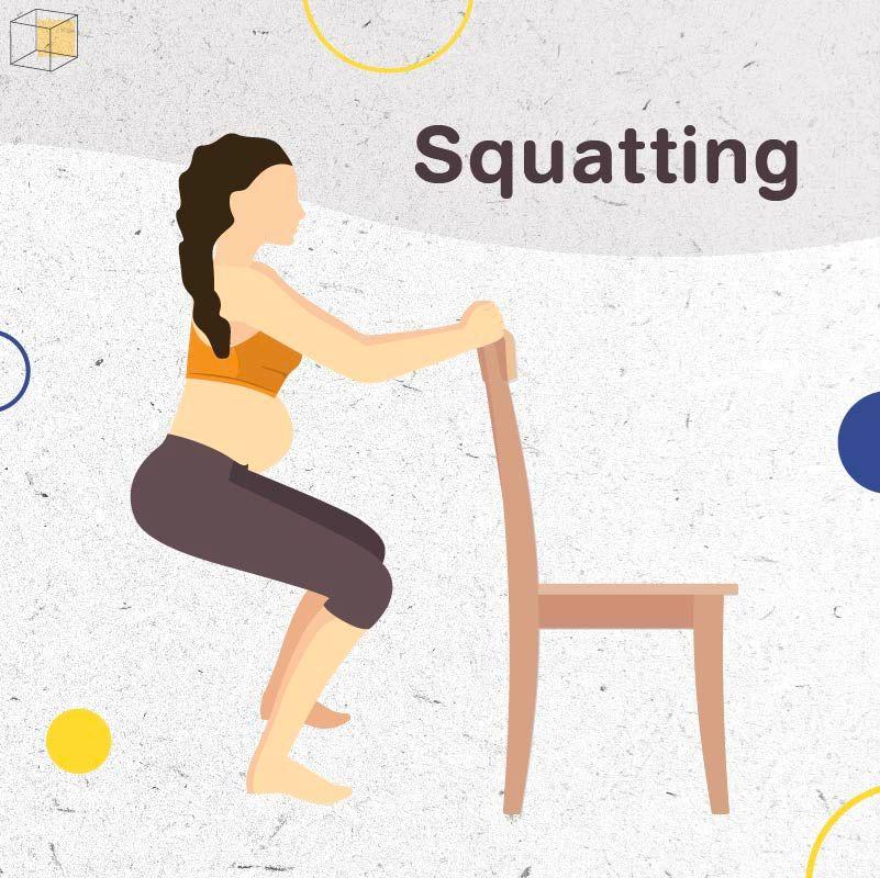 """ท่าออกกำลังกายคนท้อง """"Squatting"""""""