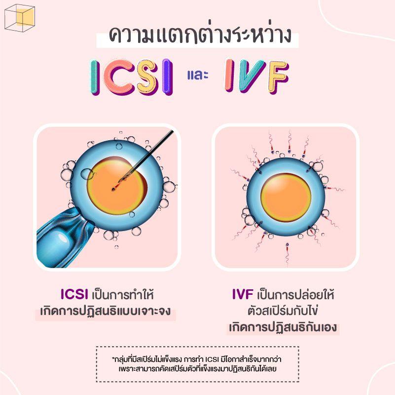 ICSI และ IVF แตกต่างกันอย่างไร?