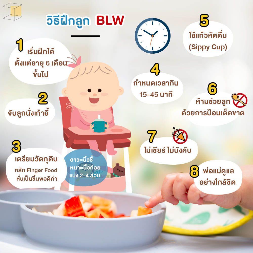 วิธีฝึกลูกกินข้าวเอง Baby Led Weaning (BLW)
