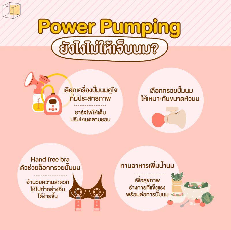 วิธีกระตุ้นน้ำนม Power pumping